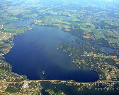 W-032 Wissota Lake Eau Claire County Wisconsin Poster by Bill Lang