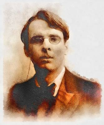 W. B. Yeats, Author And Poet Poster