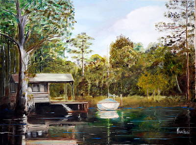 Waccamaw River Sloop Poster by Phil Burton