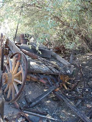 Wagon At The Ghost Town Poster