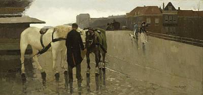 Wagon Bridge In The Hague Poster by Willem de Zwart