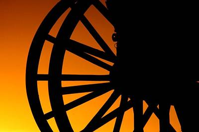 Wagon Wheel Sunset Poster