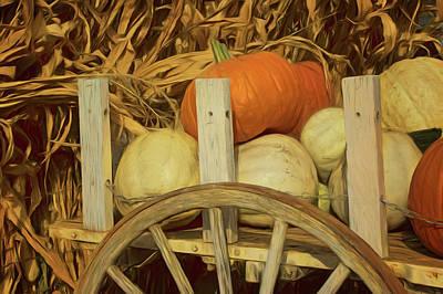 Wagonload Of Pumpkins Poster