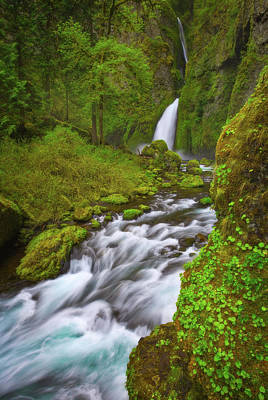 Poster featuring the photograph Wahclella Falls by Darren White