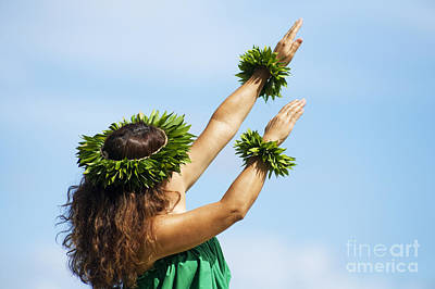 Wahine Hula Poster by Ron Dahlquist - Printscapes