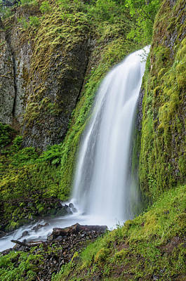 Poster featuring the photograph Wahkeena Falls by Greg Nyquist
