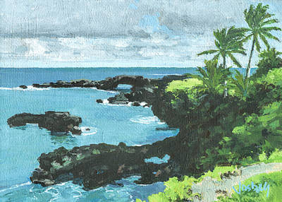 Wai'anapanapa Black Sand Beach Poster by Stacy Vosberg