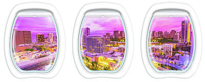 Waikiki Porthole Windows Poster