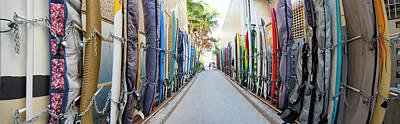 Waikiki Surfboard Storage Poster