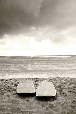 Waikiki Surfboards Poster