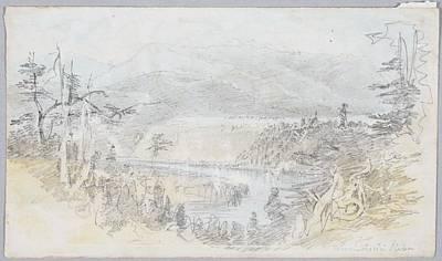 Waimakariri River, 1866, By Nicholas Chevalier Poster