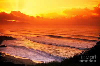Waimea Bay Sunset Poster by Vince Cavataio - Printscapes