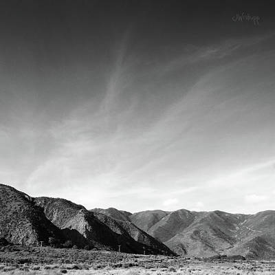 Wainui Hills Squared In Black And White Poster by Joseph Westrupp