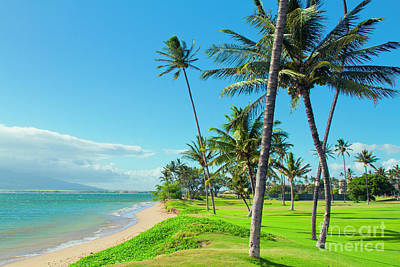 Poster featuring the photograph Waipuilani Beach Kihei Maui Hawaii by Sharon Mau