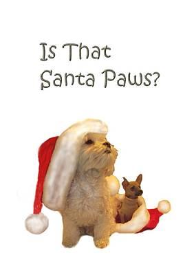 Waiting For Santa Paws Poster