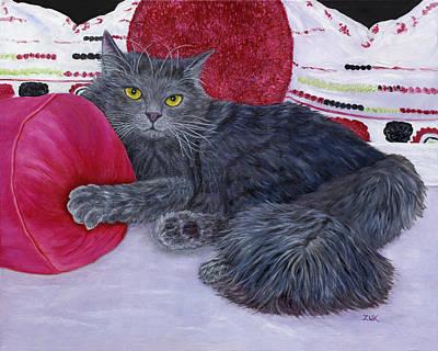 Poster featuring the painting Waiting For You by Karen Zuk Rosenblatt