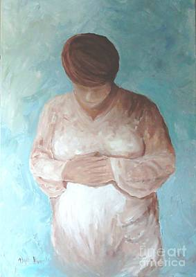 Poster featuring the painting Waiting by Phyllis Howard