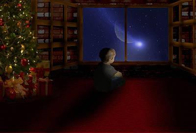 Waiting Santa Poster