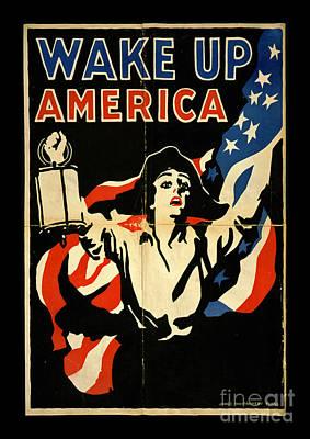 Wake Up America Poster by John Stephens