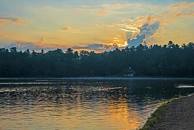Walden Pond Sunrise Concord Ma Poster