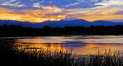 Walden Ponds Sunset 3 Poster by Brian Kerls
