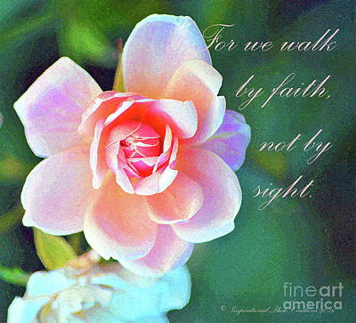 Walk By Faith Poster by Inspirational Photo Creations Audrey Woods
