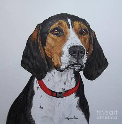 Walker Coonhound - Cooper Poster by Megan Cohen