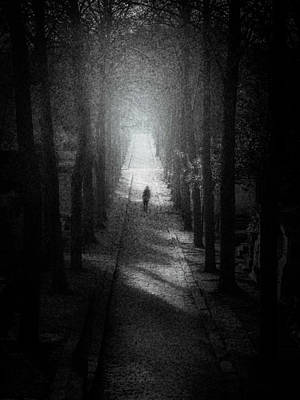 Walking Alone Poster by Celso Bressan