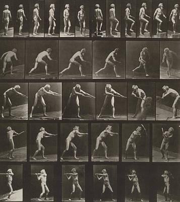 Walking, Ascending, Throwing Poster by Eadweard Muybridge