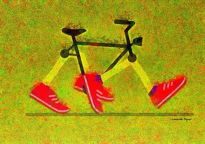 Walking Bike - Da Poster by Leonardo Digenio
