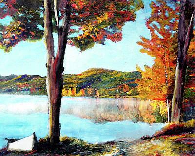 Walking Down Lake Champlain Poster