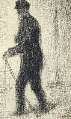 Walking Poster by Georges Pierre Seurat