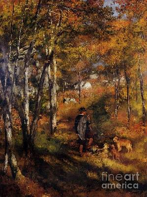 Walking His Dogs Poster by Renoir