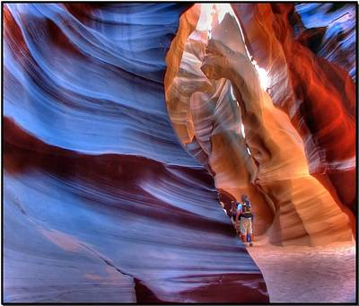 Walking In Antelope Canyon Poster