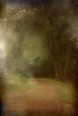 Walking Into A Dream - Holmdel Park Poster by Angie Tirado