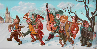 Walking Musicians Poster