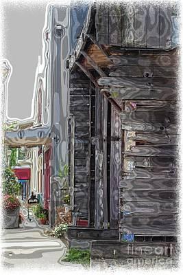 Walking Old Town Poster by Lori Mellen-Pagliaro