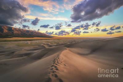 Walking On Sand  Poster