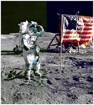 Walking On The Moon-2 Poster by Otis Porritt