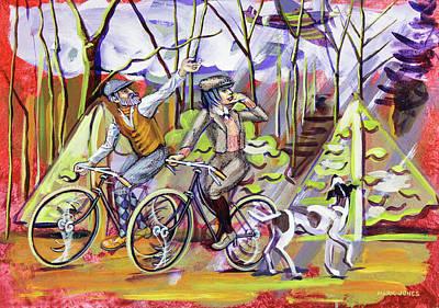 Walking The Dog 1 Poster by Mark Howard Jones