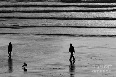 Poster featuring the photograph Walking The Dog At Marazion by Brian Roscorla