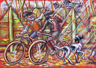 Walking The Dog II Poster by Mark Howard Jones