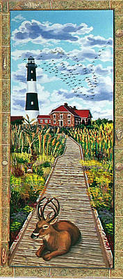 Walkway To Fire Island Lighthouse Poster by Bonnie Siracusa