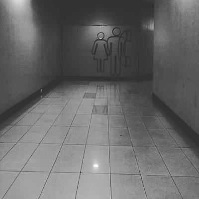Walkway Towards Restroom Poster