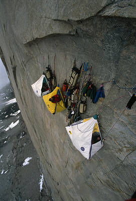 Wall Camp At An Elevation Of 4000 Feet Poster by Gordon Wiltsie