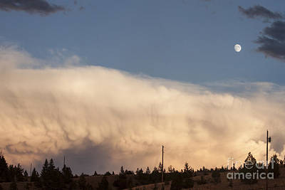 Wall Cloud And Moon Poster