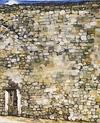 Wall In Erice By Renato Guttuso Poster