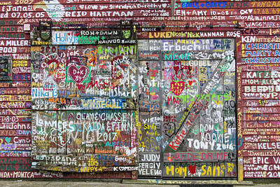 Poster featuring the photograph Wall Of Love by Joel Witmeyer