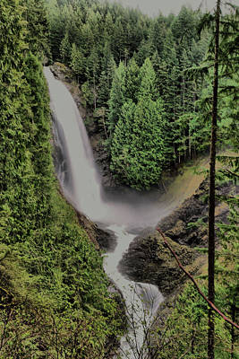 Poster featuring the photograph Wallace Falls by Jeff Swan
