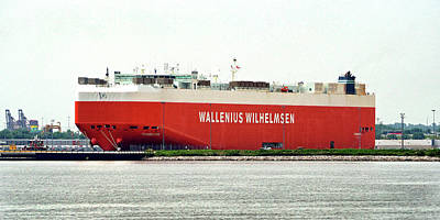Poster featuring the photograph Wallenius Wilhelmsen Tombarra 9319753 At Curtis Bay by Bill Swartwout Fine Art Photography